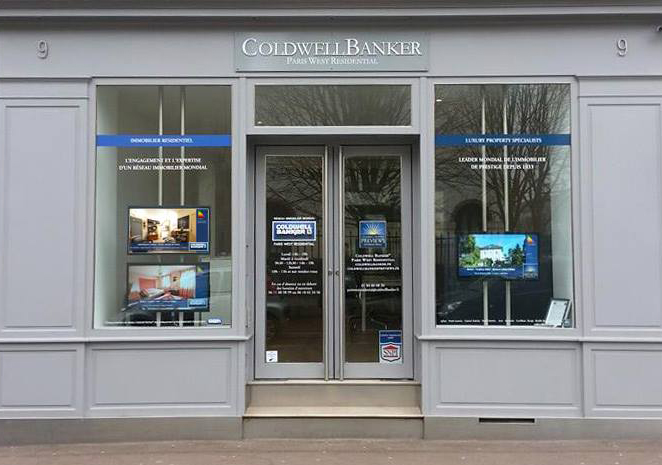 Ecran vitrine ColdwellBanker Immobilier